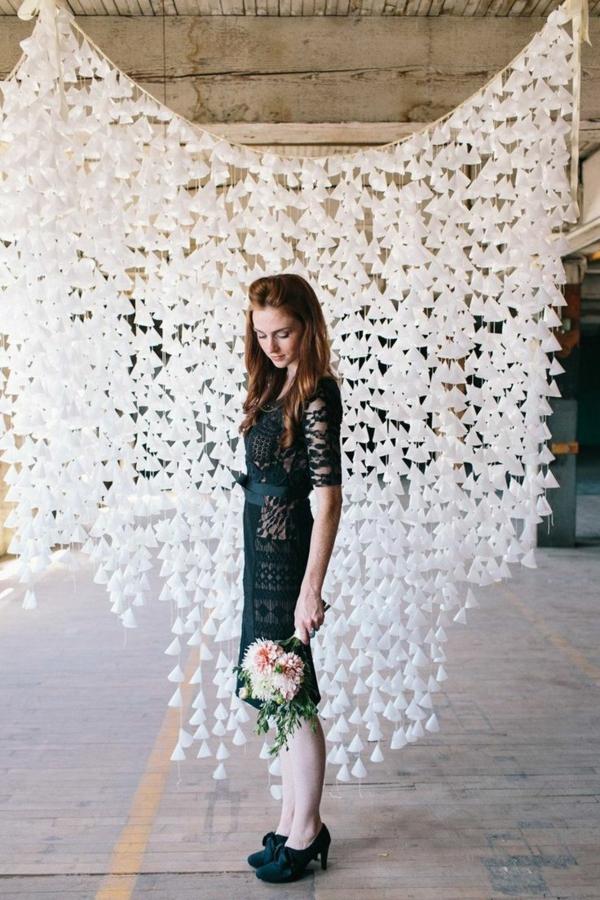 DIY Hochzeiten dekoideen hängend deko