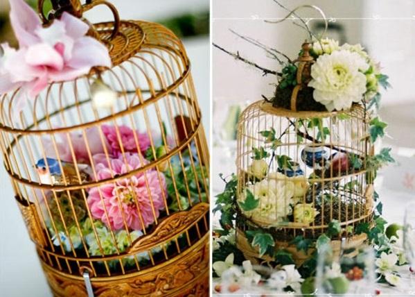 vintage design Hochzeiten dekoideen käfige