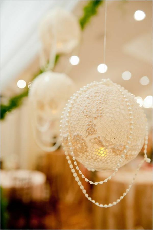 die perfekte DIY Hochzeit dekoideen perlen kreise stricken