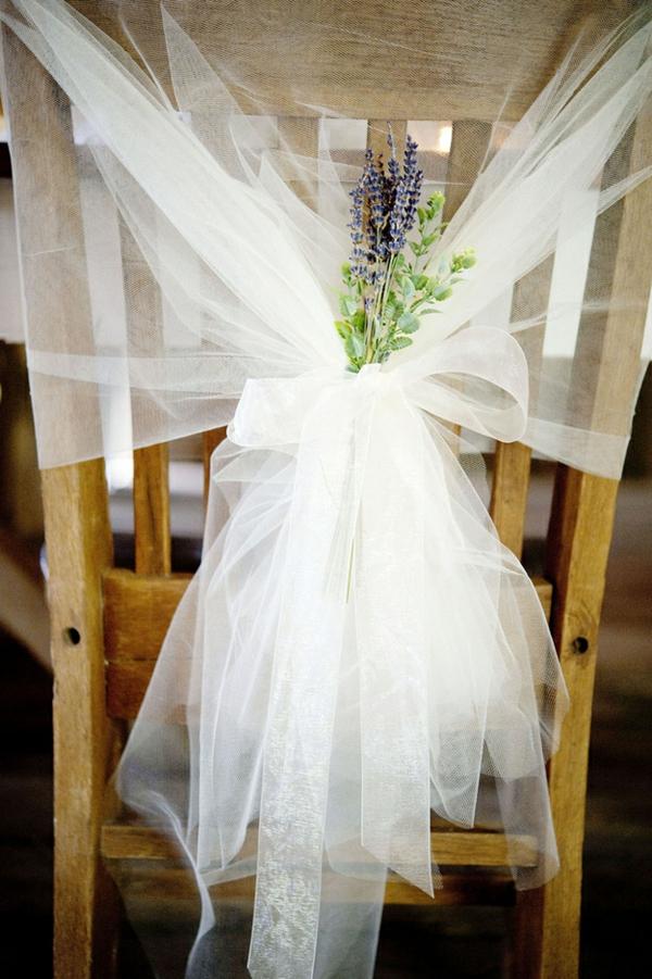 die perfekte DIY Hochzeit dekoideen stuhllehne spitze