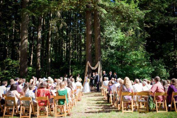 wald umgebung Hochzeiten dekoideen zeremonie grün