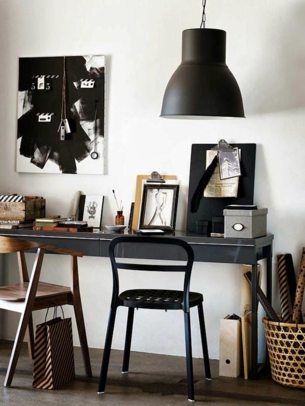 schwarz farben Büromöbel ergonomisch gebraucht komplettset hängelampe