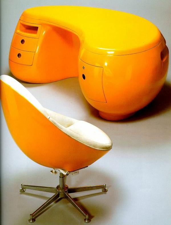 Büro möbel ergonomisch komplettset orange