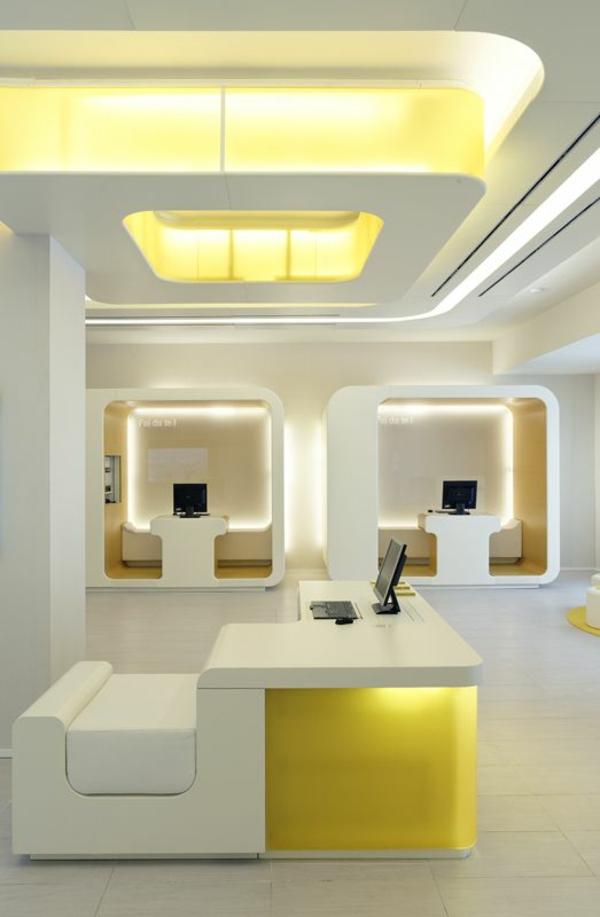 Designer Büromöbel ergonomisch modern komplettset gelb