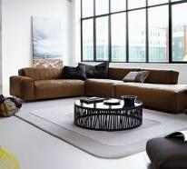 30 ideen f r eckcouch aus leder sofas mit und ohne. Black Bedroom Furniture Sets. Home Design Ideas