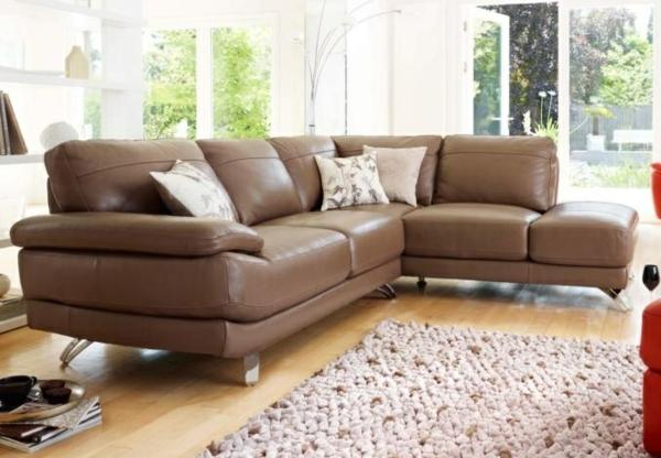 30 ideen f r eckcouch aus leder luxus sofas mit und ohne schlaffunktion. Black Bedroom Furniture Sets. Home Design Ideas