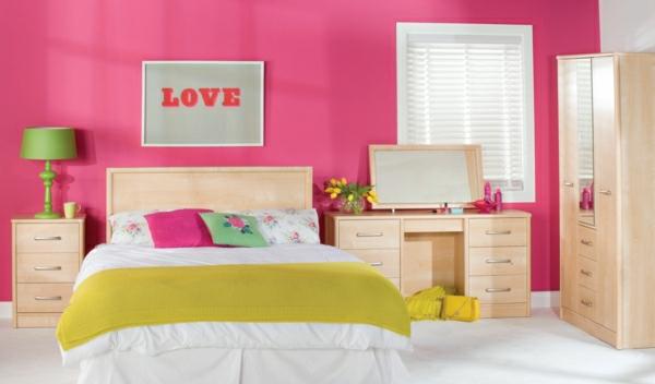 Farbideen für Wände wandfarben bilder wandgestaltung wohnzimmer rosa
