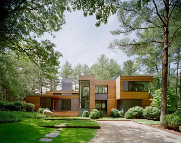 Fassadengestaltung einfamilienhaus ideen und bilder for Modern 80s house