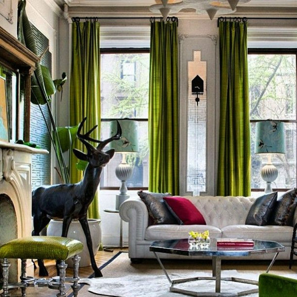Gardinen in Grün- für alle Saison dekoartikel