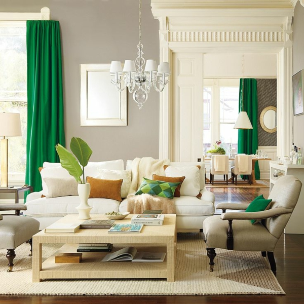 Fenster Gardinen Grun : Gardinen vorhänge Grün für alle Saisons deko