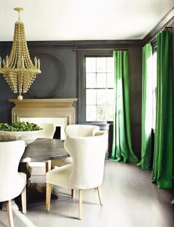 Gardinen kronleuchter Grün für alle Saisons dunkel
