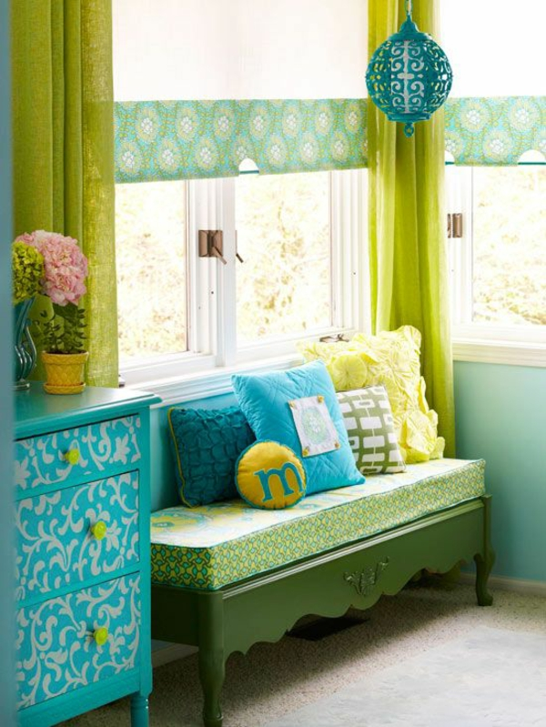 Fenster Gardinen Grun : Gardinen blumen Grün für alle Saisons frisch farben