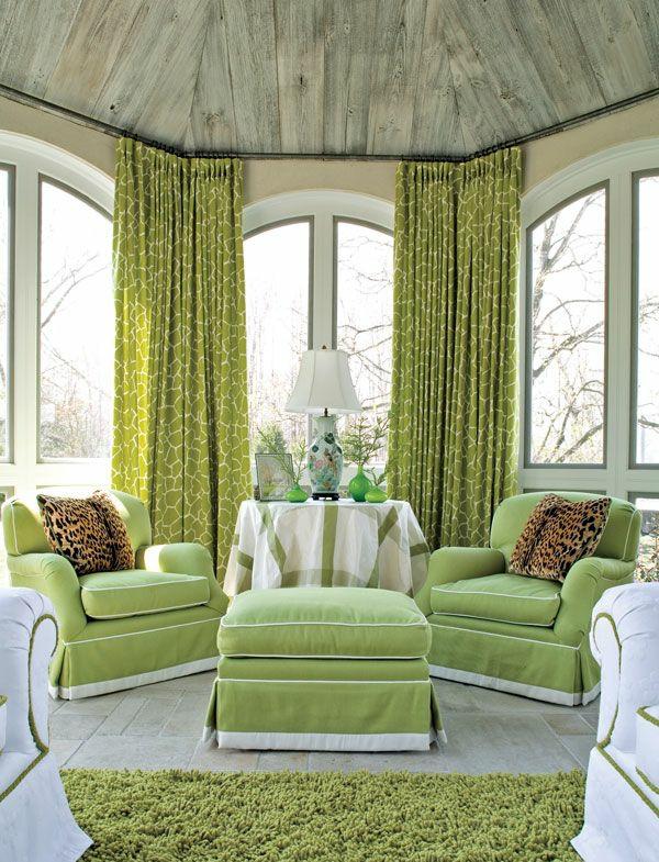 Fenster Gardinen Grun : Gardinen tischlampen Grün für alle Saisons frisch