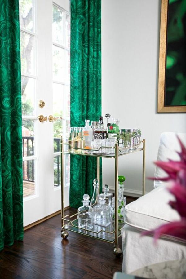 Fenster Gardinen Grun : Gardinen muster Grün für alle Saisons getränke
