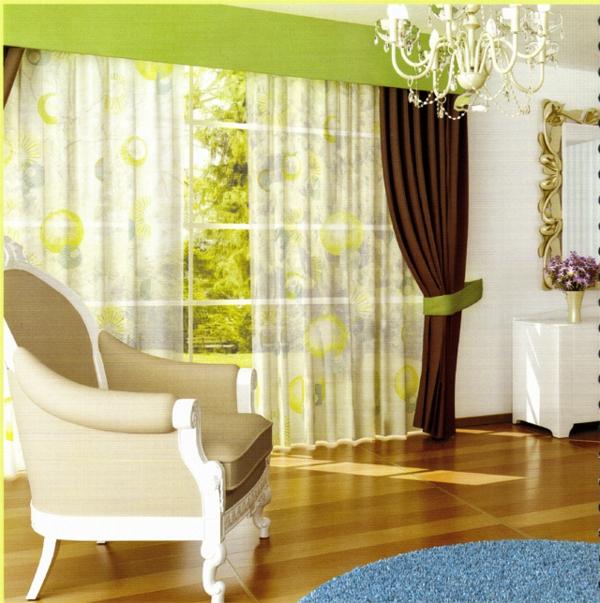 30 gardinen in gr n f r alle saisons. Black Bedroom Furniture Sets. Home Design Ideas