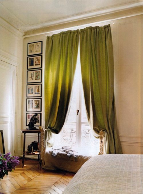 Gardinen in-Grün für alle Saisons olivgrün