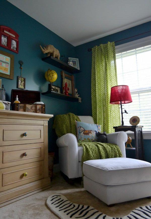 Gardinen in Grün für alle Saisons urban wohnzimmer