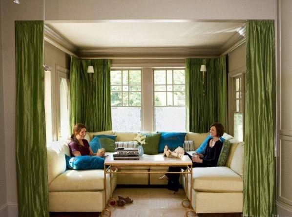 30 gardinen in gr n f r alle saisons passend. Black Bedroom Furniture Sets. Home Design Ideas
