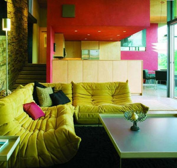 Designer couch bunt  66 Grüne Sofas in verschiedenen Formen und Designs