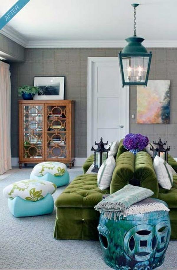 Grüne Sofas couch beistelltisch