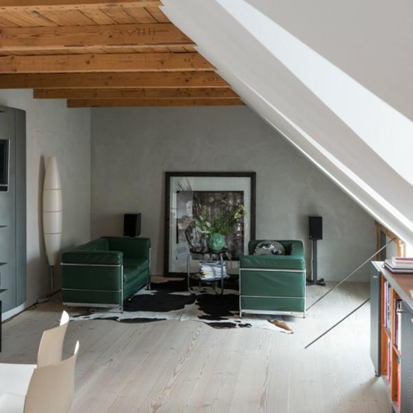 Grüne design Sofas holzbalken elegant kunststück bodenbelag