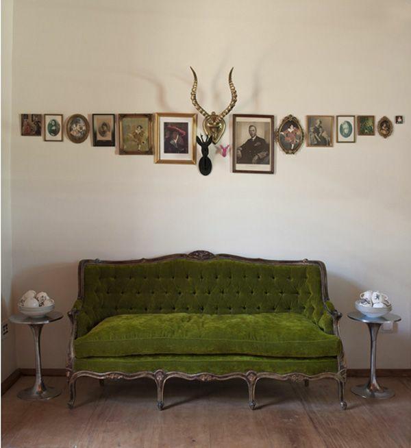 Grüne Sofas dekoartikel gemälde bilderrahmen