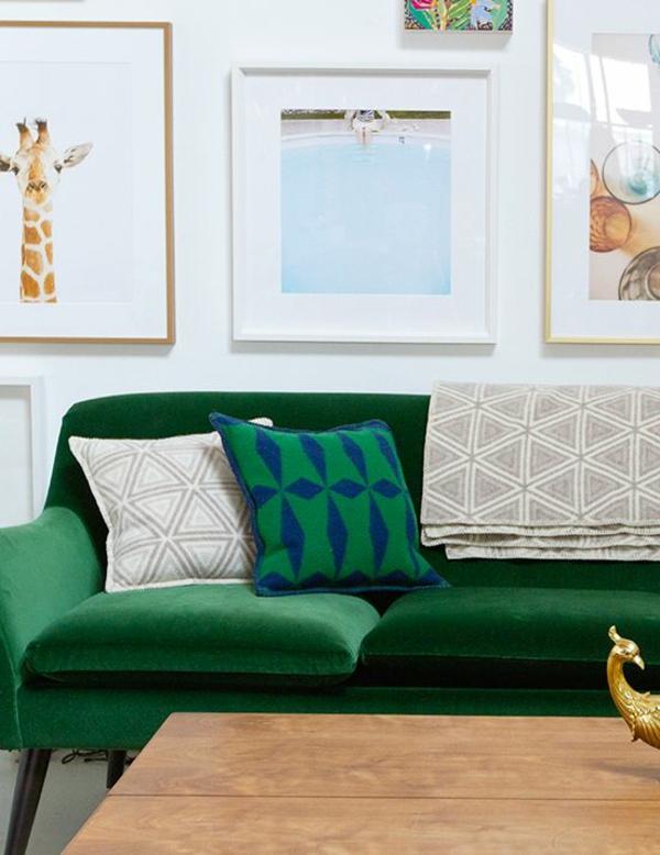 Grüne Sofas giraffe klassisch modernismus