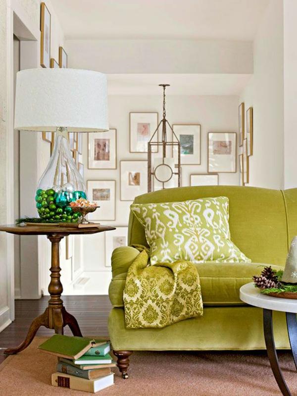 Grüne weiß gemälde sammlung Sofas lampenschirm weiß