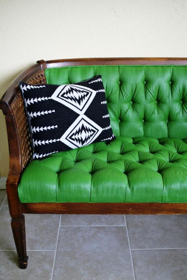 Grüne schwarz weiß kissen Sofas leder polsterung