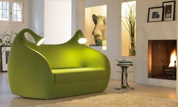 Grüne feuerstelle Sofas leuchten integriert lesen