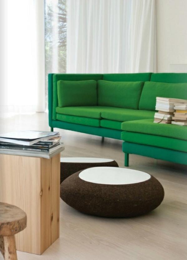 Grüne Sofas leuchtend farbe polsterung