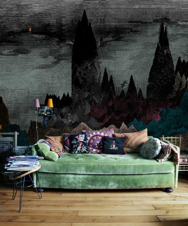 Grüne Sofas märchenhaft orientalisch