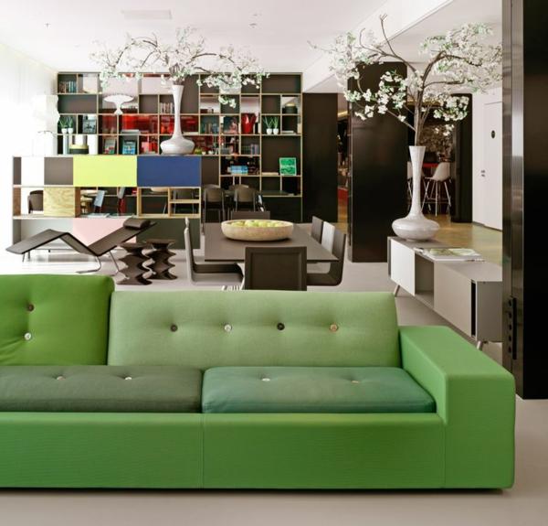 Grüne Sofas modern couch