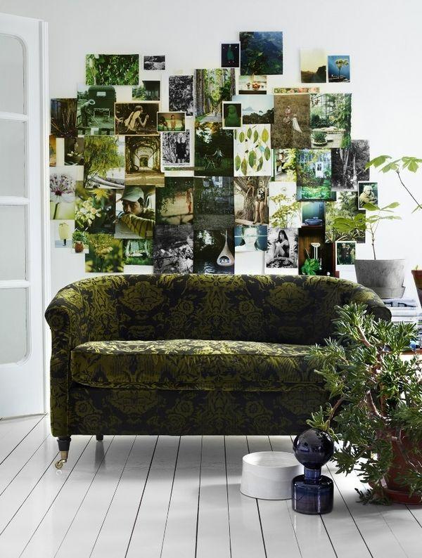 Grüne weiß wand Sofas muster holzplatten