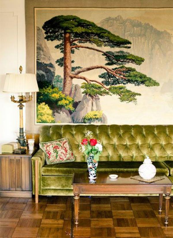 Grüne designer Sofas samt natur umgebung schein