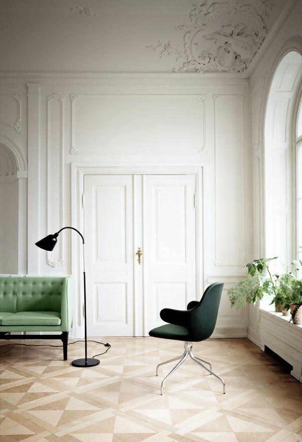 Grüne hell farben Sofas stehlampe hoch raum