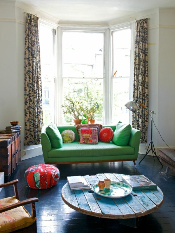 Grüne erker Sofas tisch fenster