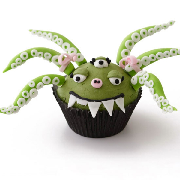 Grusel Muffins backen halloween gebäck cupcakes außerirdischer