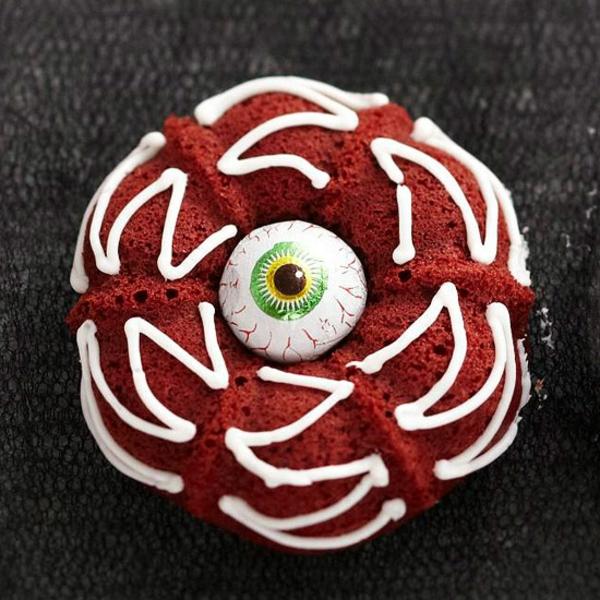 Grusel Muffins backen halloween gebäck cupcakes auge