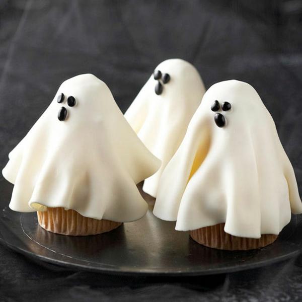 Grusel Muffins backen halloween gebäck cupcakes gespenster