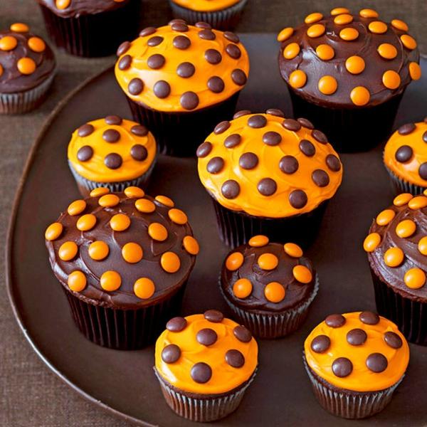 Grusel Muffins backen halloween gebäck cupcakes schokolade