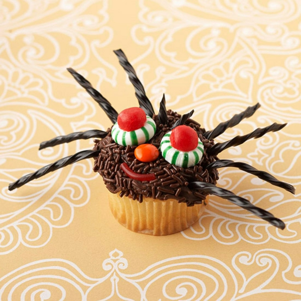 Grusel Muffins backen halloween gebäck cupcakes spinne