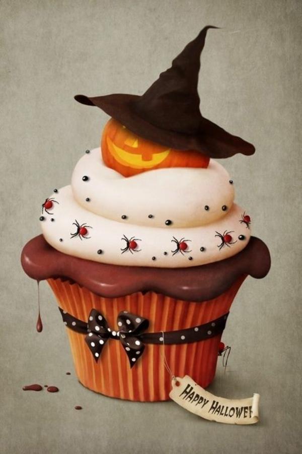 Grusel Muffins backen halloween nachtisch cupcakes rezept ideen