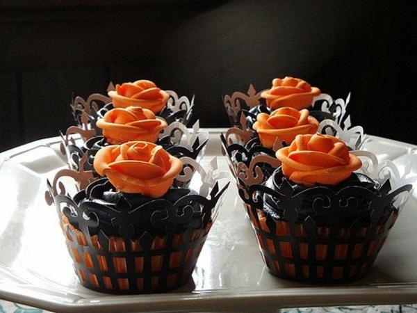 Grusel Muffins halloween gebäck halloween nachtisch halloween backen Halloween Party Rezepte