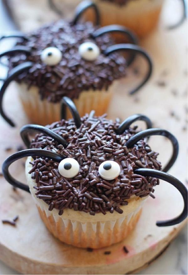 Grusel Muffins spinen cupekaces halloween gebäck Halloween Party Rezepte