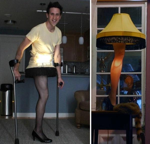 Kostüm Ideen Halloween  behindert stehlampe