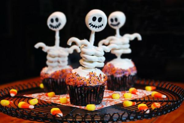 Halloween Party Rezepte Grusel Muffins gespenster halloween gebäck