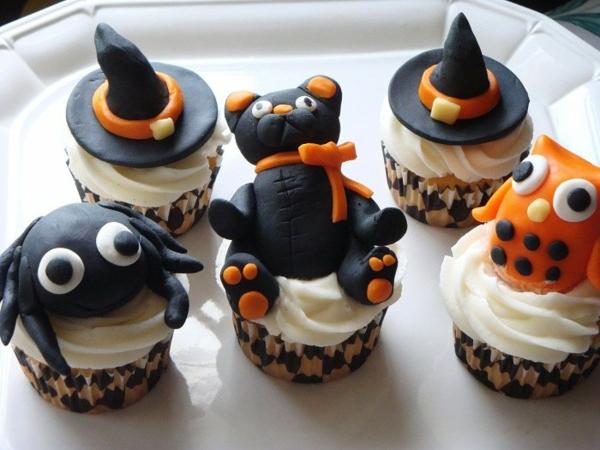 Halloween Party Rezepte Grusel Muffins halloween gebäck cupcakes rezept