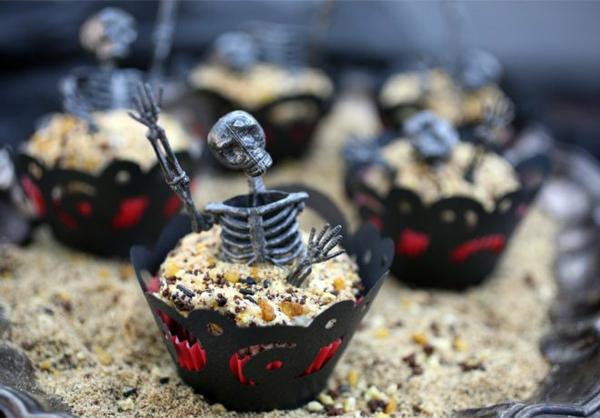 Halloween Party Rezepte Grusel Muffins halloween gebäck halloween nachtisch