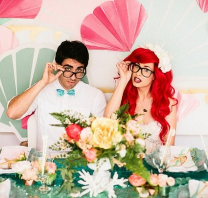 Hochzeitsdekoration Ideen im Stil Arielle die Meerjungfrau